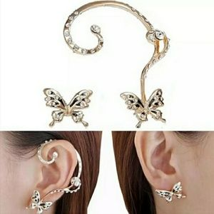 2 pc. Butterfly Earring and Cuff Set
